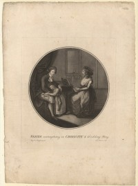 """Werther contemplating on Charlotte's wedding ring"". Werther und ..."